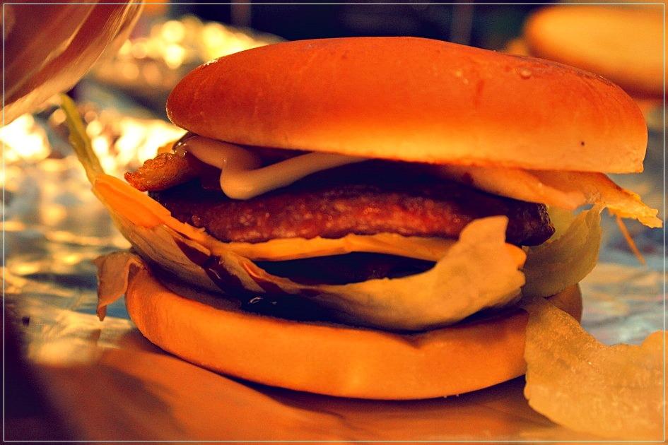 완성 된 햄버거