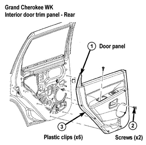Panel 2221 2005 jeep grand cherokee interior door handle replacement