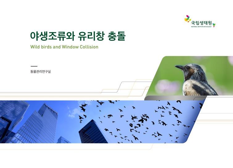 야생조류와 유리창 충돌 - Wild birds and Window Collision 동물관리연구실 국립생태원