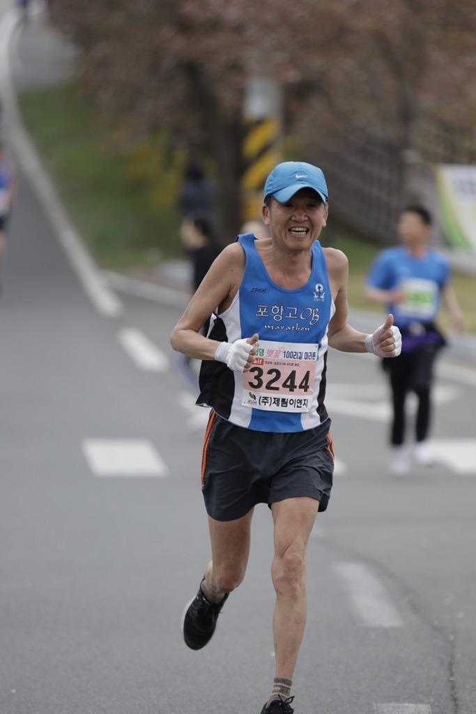 2019 영천댐 벚꽃마라톤대회 골인 (11:58:49 ~ 12:04:01)