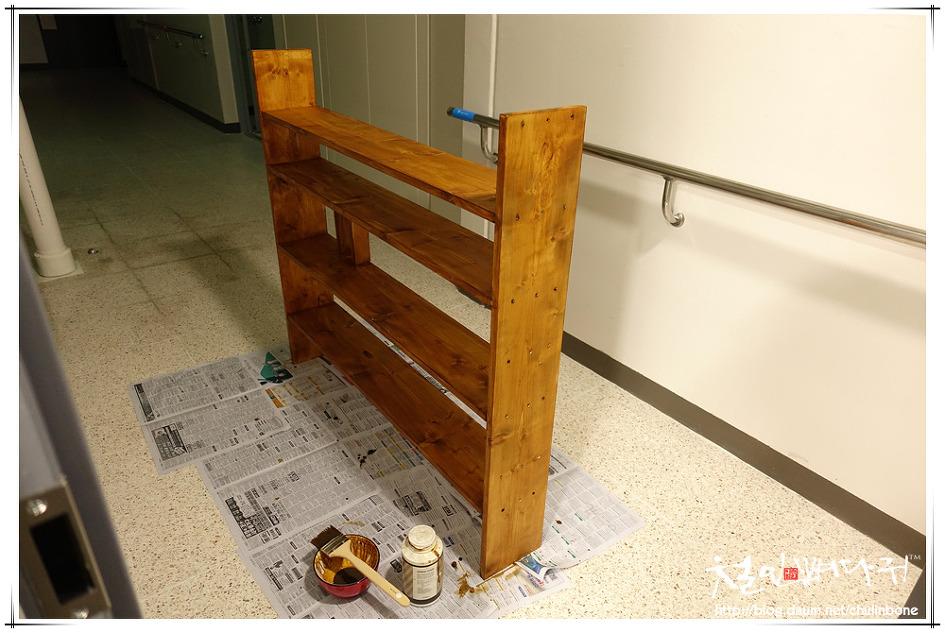 식탁위 책장 구조변경(재활용DIY)