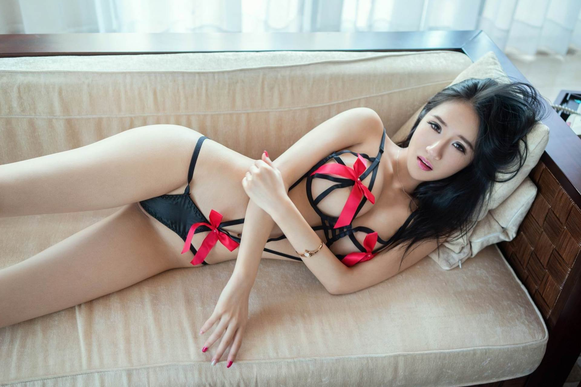 hot Chinese girl in sexy lingerie
